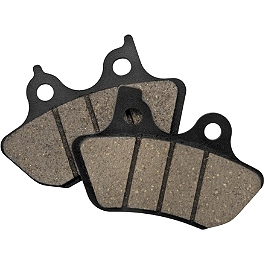 Biker's Choice Hi-Performance 4 Piston Brake Caliper Replacement Brake Pads - Biker's Choice Twin Power Organic Brake Pads For Girling Caliper - Rear