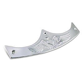 Biker's Choice Custom Fender Tip - Drag Specialties Eagle Head Fender Ornament With Gold Eyes