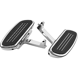 Biker's Choice Passenger Floorboards - Baron Custom Accessories Passenger Floorboard Comfort Kit - Adjustable