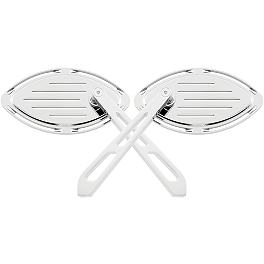 Biker's Choice Formula Mirrors - Yamaha Star Accessories Tear Drop Brushed Billet Mirrors - Right