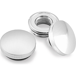 Biker's Choice Ratchet Style Gas Cap Set - Biker's Choice Dash Panel - Chrome