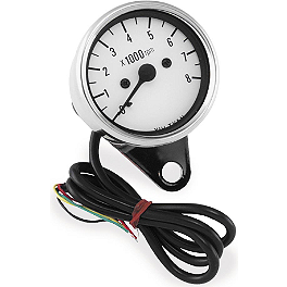 Biker's Choice Mini Tachometer - Biker's Choice Horn Cover - Chrome