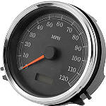 "Biker's Choice 5"" FL Type Speedometer - 120mph Black Face - Harley Davidson Dirt Bike Dash and Gauges"