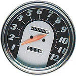 "Biker's Choice 5"" FL Type Speedometer - 62-67 Antique Face -  Cruiser Dash and Gauges"