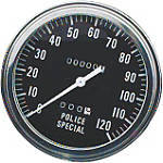 "Biker's Choice 5"" FL Type Speedometer - Police Special - Harley Davidson Dirt Bike Dash and Gauges"