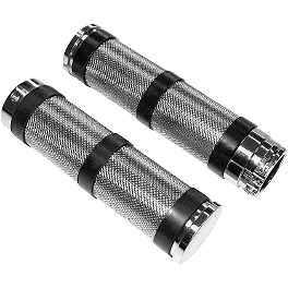 Biker's Choice Intruder Grips - Show Chrome Edge Grips