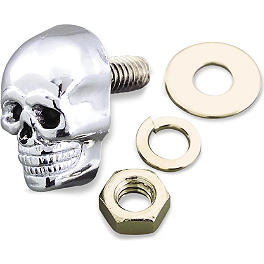 Biker's Choice Krommets - Skull - Kuryakyn Replacement Skull Emblem For Zombie Pegs