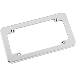 Biker's Choice License Plate Frame - Large Smooth - Biker's Choice Horn Cover - Chrome