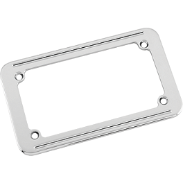 Biker's Choice License Plate Frame - Small Twin Line - Kuryakyn Ball-Milled License Plate Frame