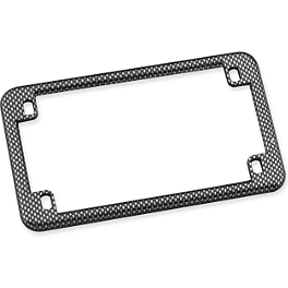 Biker's Choice License Plate Frame - Carbon Fiber Look - Drag Specialties Rubber Plain Mudflap