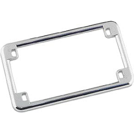Biker's Choice License Plate Frame - Standard Mount - Kuryakyn Dual Function Flexible Antenna