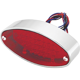 Biker's Choice Oval LED Tail Light - Biker's Choice Smooth Bullet Dual Filament Marker Lights