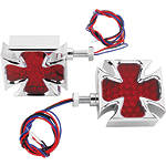 Biker's Choice LED Maltese Cross Turn Signals -  Cruiser Lights & Lighting