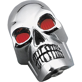 Biker's Choice Skull Marker Lamp Set - Biker's Choice Stainless Steel Mirror Rotor - Front