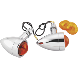 Biker's Choice Mini Bullet Marker Lights - Biker's Choice Smooth Bullet Dual Filament Marker Lights