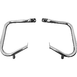 Biker's Choice Rear Saddlebag Guards - Chrome - Biker's Choice Saddlebag Latch Cover