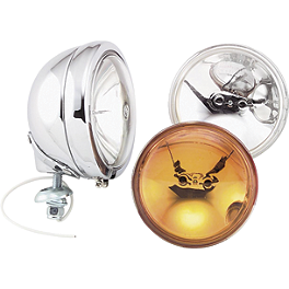 Biker's Choice Spot Lamp Assembly - Show Chrome Driving Light Kit - Halogen