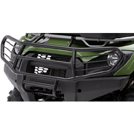Kawasaki Genuine Accessories Full Coverage Brush Guard - Metallic Greystone - Kawasaki Genuine Accessories Bumper Braces - Aluminum