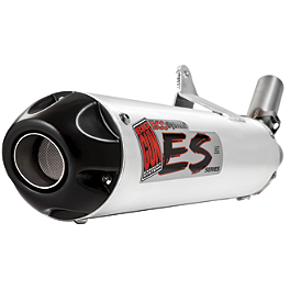 Big Gun Eco System Slip-On Exhaust - 2006 Yamaha KODIAK 450 4X4 HMF Performance Series Slip-On Exhaust - Brushed