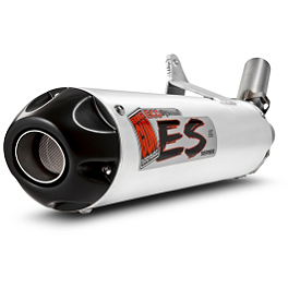 Big Gun Eco System Slip-On Exhaust - 2003 Yamaha RAPTOR 660 HMF Performance Series Slip-On Exhaust - Brushed