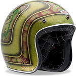 Bell Custom 500 Helmet - Skratch Lace -  Open Face Motorcycle Helmets