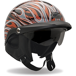 Bell Pit Boss Helmet - Flames - Bell Shorty Flames Helmet