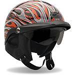 Bell Pit Boss Helmet - Flames - Dirt Bike Half Shell Helmets