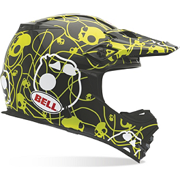 Bell MX-2 Helmet - Skull Candy Ribbons - 2014 Alias Youth AKA Gloves