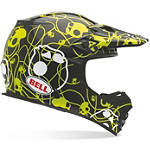 Bell MX-2 Helmet - Skull Candy Ribbons - Bell Dirt Bike Protection