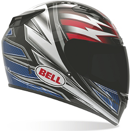 Bell Vortex Helmet - Patriot - Bell Vortex Helmet - Damage