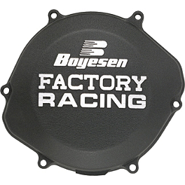 Boyesen Ignition Cover - Black - 2008 Suzuki RM85 Mishimoto X Braced Radiator