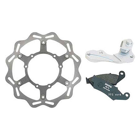 Braking W-FLO Oversized Brake Rotor Kit - Rear - Main