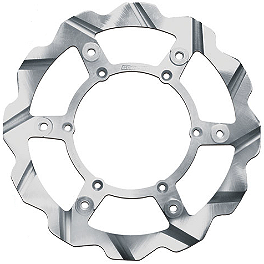 Braking Batfly Cross Brake Rotor - Front - 2007 Yamaha YZ250 Braking W-FLO Oversized Brake Rotor - Front