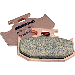 Braking CM44 Brake Pads - Rear - 2008 Honda TRX300EX Braking W-FIX Brake Rotor - Rear