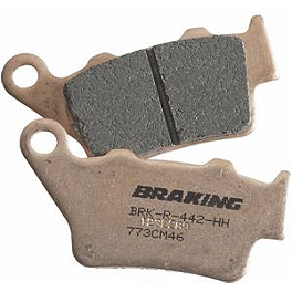 Braking CM46 Race Compound Brake Pads - Rear - 1999 Honda CR80 Big Wheel Braking W-FLO Oversized Brake Rotor Kit - Front