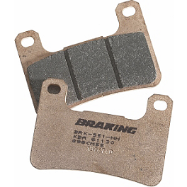 Braking CM55 Sintered Sport Brake Pads - Front Left - 2007 Kawasaki Vulcan 900 Custom - VN900C Braking SM1 Semi-Metallic Brake Pads - Front Left