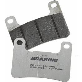 Braking CM66 Race Compound Brake Pads - Front - 2008 Ducati Hypermotard 1100 Braking W-FIX Brake Rotor - Rear