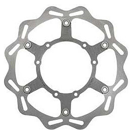Braking W-FLO Oversized Brake Rotor - Front - 2007 KTM 200XCW Braking Batfly Oversized Brake Rotor Kit - Front