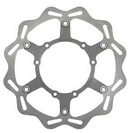 Braking W-FLO Oversized Brake Rotor - Front - 1991 Suzuki RM250 Braking CM44 Sintered Sport Brake Pads - Front Left