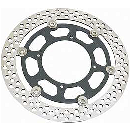 Braking R-FIX Brake Rotor - Front - 1998 Yamaha Virago 250 - XV250 Braking SM1 Semi-Metallic Brake Pads - Front Left