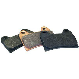 Braking SM1 Semi-Metallic Brake Pads - Front Left - 1996 Honda CR250 Braking W-FLO Oversized Brake Rotor - Front