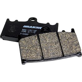 Braking SM15 Brake Pads - Rear - 1989 Kawasaki KX80 Braking SM1 Semi-Metallic Brake Pads - Front Left