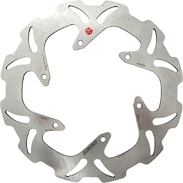 Braking W-FIX Brake Rotor - Front - 2008 Kawasaki KLX450R Braking W-FLO Oversized Brake Rotor - Front