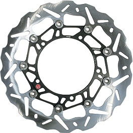 Braking SK2 Brake Rotor - Front Right - Galfer Wave Brake Rotor - Front - Chrome
