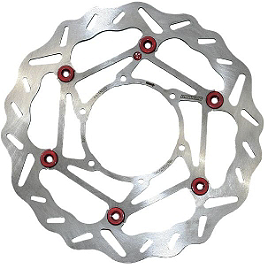 Braking W-FLO Brake Rotor - Front Left - 2011 Kawasaki EX650 - Ninja 650R Driven Sintered Brake Pads - Front Right