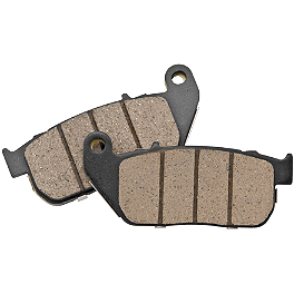 BikeMaster Brake Pads - Front - 1976 Honda CB750K - Four Vesrah Racing Semi-Metallic Brake Shoes - Rear