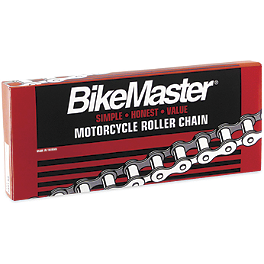 BikeMaster 420 Standard Chain - 120 Links - BikeMaster Dial Type Air Pressure Tire Gauge With Hose - 0-15 PSI