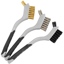 BikeMaster Mini Double Wire Brush Set - BikeMaster Heavy-Duty Cable Ties 100 Pack - 2.5mm X 6
