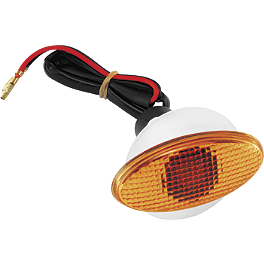 BikeMaster Flat Oval Medium Flush Mount Marker Light - BikeMaster Mini Corner Cateye LED Turn Signals