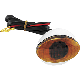 BikeMaster Flat Oval Small Flush Mount Marker Light - BikeMaster Rear Left Turn Signal